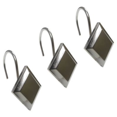 Diamond Shower Curtain Hooks (Set of 12)