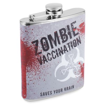 Zombie Vaccination Hip Flask