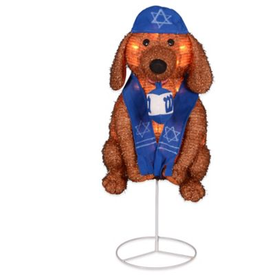 Hanukkah Dog Lighted Holiday Decoration