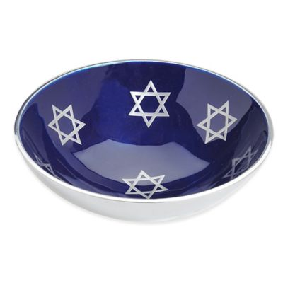 Aluminum Candy Dish with Blue Enamel