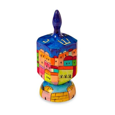 Hand-Painted Dreidel on a Stand