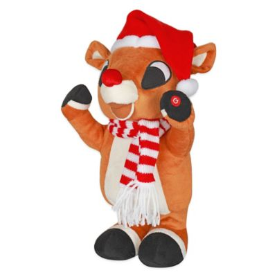 Side-Stepping Rudolph the Red-Nosed Reindeer Plush Figure