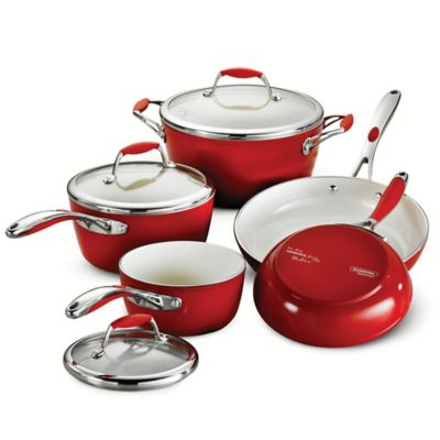 Black Red Cookware Sets