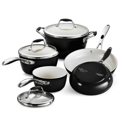 Tramontina® Gourmet Ceramica Deluxe 8-Piece Cookware Set in Red