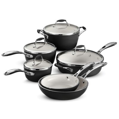 Tramontina® Gourmet Ceramica Deluxe 10-Piece Cookware Set in Black