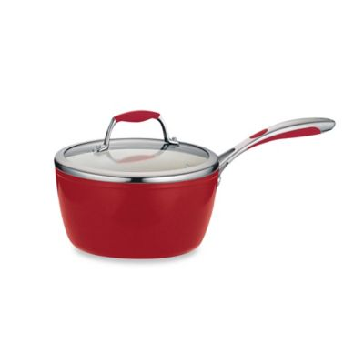 Tramontina® Gourmet Ceramica 1.5 qt. Deluxe Covered Saucepan in Red