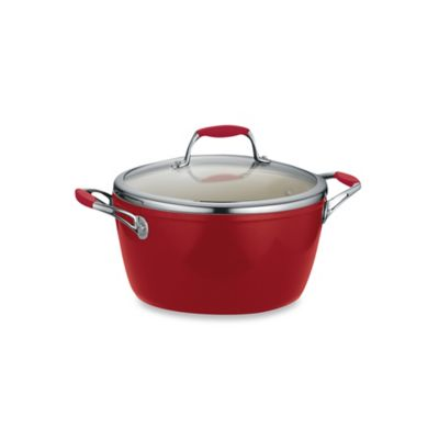 Tramontina® Gourmet Ceramica Deluxe 5 qt. Covered Dutch Oven in Red