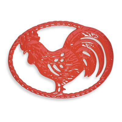 Chasseur® Cast Iron Rooster Trivet in Flame Red