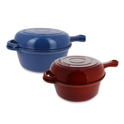 Chasseur® 9-Inch Cast Iron Combination Fry Pan and Saucepan Set in Flame Red