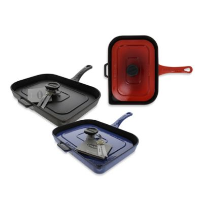 Chasseur® Cast Iron Panini Press in Red