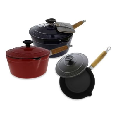 Chasseur® 2.5-Quart Cast Iron Saucepan with Lid in Black