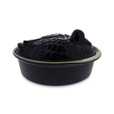 Chasseur® Cast Iron Rabbit Terrine in Black
