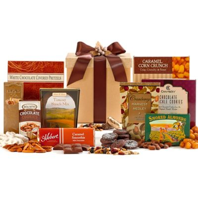 Gold Gourmet Office Party Gift Box