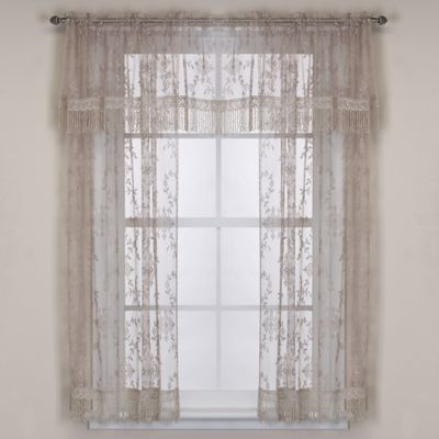 Downton Abbey® Yorkshire Collection Lace 20-Inch Window Valance in Flax