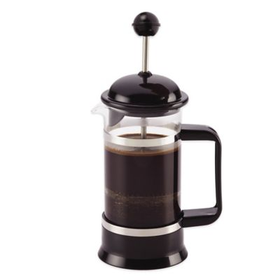 BonJour® 3-Cup La Petite French Press and Frother Set in Black