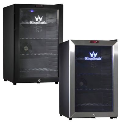 Kingsbottle 66-Can Compressor Mini Bar Fridge in Black