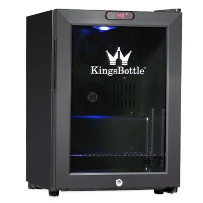 Kingsbottle 21-Can Compressor Mini Bar Fridge in Black