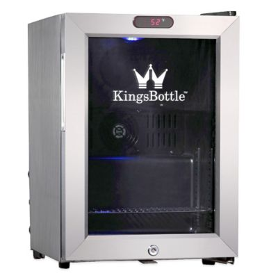 Kingsbottle 21-Can Compressor Mini Bar Fridge in Stainless Steel