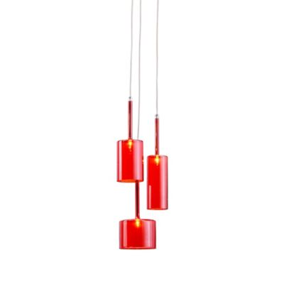 Zuo® Pure Lightning 3-Light Ceiling Lamp in Red