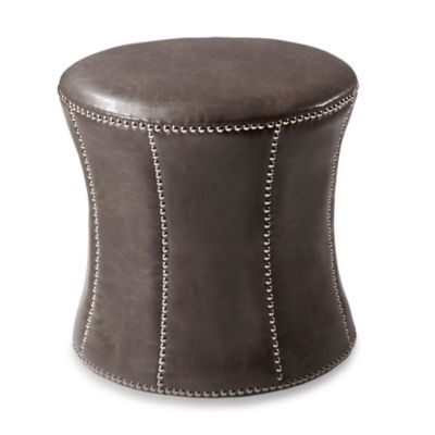 Madison Park Merrill Ottoman in Brown