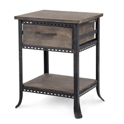 Madison Park Cirque Chair Side Table in Grey