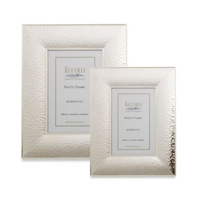 Eccolo Silverplate Hammered 5-Inch x 7-Inch Picture Frame