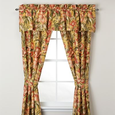 Tommy Bahama® Tropical Lily Window Valance in Golden Yellow