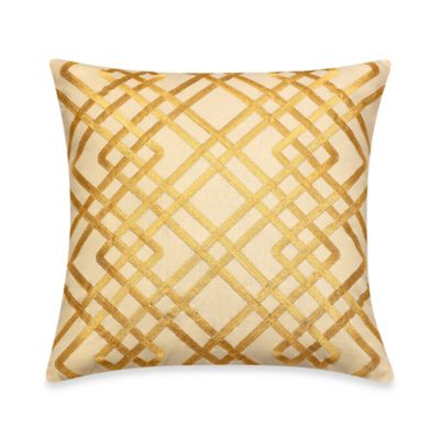 Tommy Bahama® Tropical Lily Square Throw Pillow in Golden Yellow