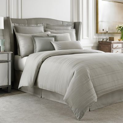 Wamsutta® Hamilton Twin Duvet Cover in Grey