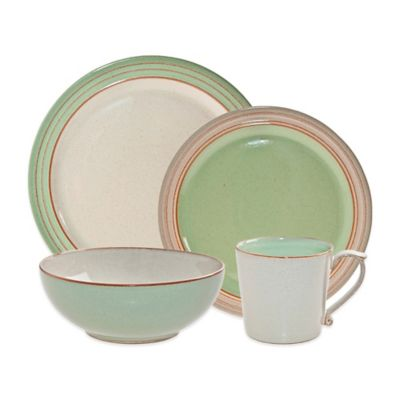 Denby USA Heritage Orchard 4-Piece Place Setting in Green