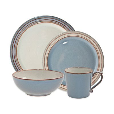 Denby Heritage Terrace 4-Piece Place Setting in Grey