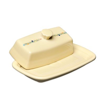 Fiesta® Christmas Extra-Large Covered Butter Dish