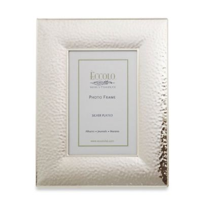 Eccolo Silverplate Hammered 4-Inch x 6-Inch Picture Frame