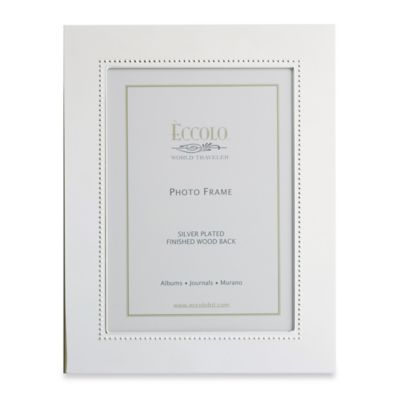 Eccolo Silverplate Beaded 5-Inch x 7-Inch Picture Frame