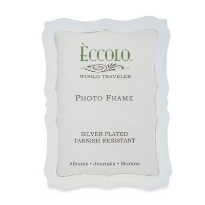 Eccolo Silverplate Scalloped 4-Inch x 6-Inch Picture Frame
