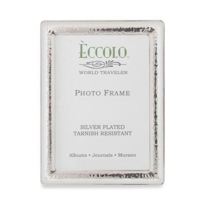 Eccolo Silverplate Checkered 5-Inch x 7-Inch Picture Frame