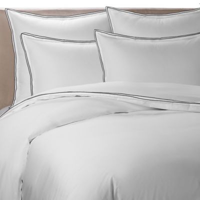 Kassatex® Fiesole Italian-Made Full/Queen Duvet Cover in Charcoal