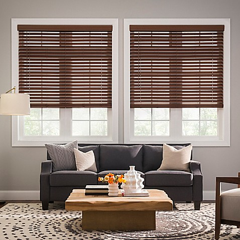 real simple cordless faux wood blinds. Black Bedroom Furniture Sets. Home Design Ideas
