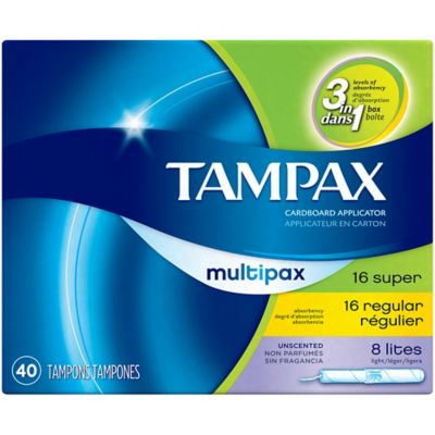 Tampax 40-Count Multipax