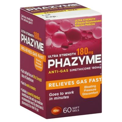 PHAZYME 60-Count Ultra Strength 180 mg Softgels