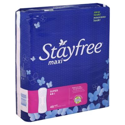 Stayfree 48-Count Super Maxi Pads