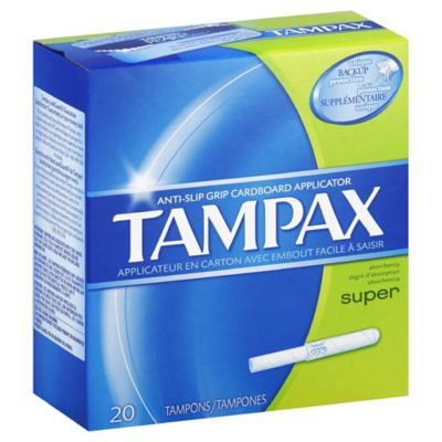 Tampax 20-Count Super Flushable Tampons