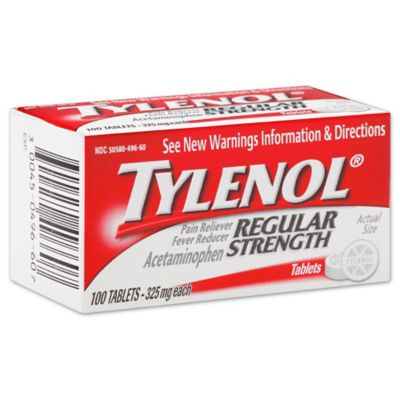 Tylenol Regular Strength 100-Count 325 mg Pain Reliever Tablets