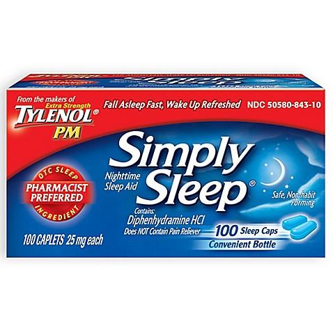 Simply Sleep 100 Count Nighttime Sleep Aid Caplets Www