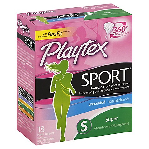 Playtex 174 Sport 18 Count Super Unscented Tampons Bed