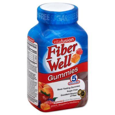 Vitafusion Fiber Well 90-Count Fiber Gummies in Peach, Strawberry & Blackberry Flavors