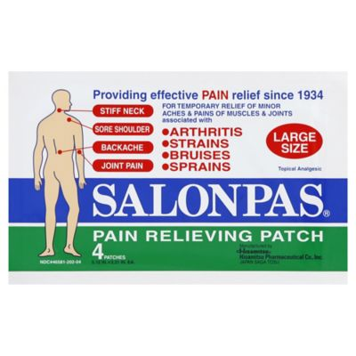 Salonpas® 4-Count Large Pain Relieving Patch