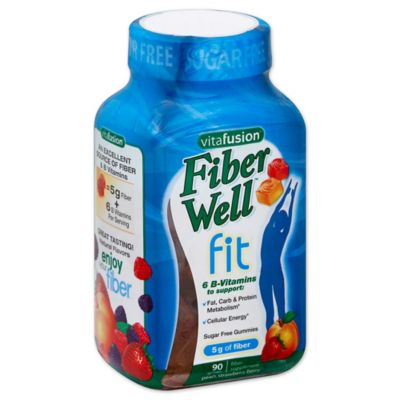 Vitafusion Fiber Well 90-Count Weight Management Gummies in Peach, Strawberry & Berry Flavors