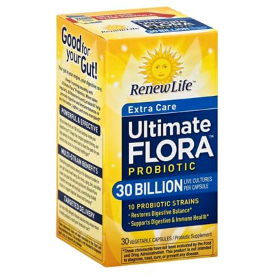 Renew Life® Ultimate Flora™ 30 Billion 30-Count Extra Care Daily Probiotic Capsules