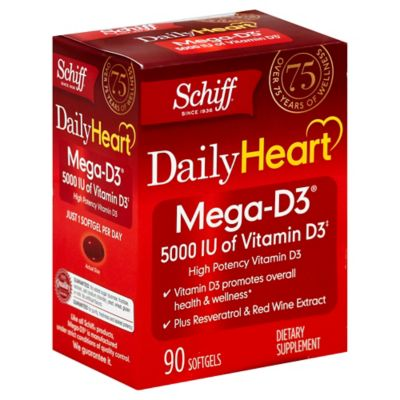 Schiff Mega-D3® 90-Count Vitamin D3 Dietary Supplement Softgels